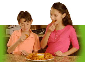 Kids enjoy a meal